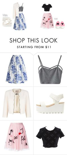 """""""BFF"""" by malufashion on Polyvore featuring Chicwish, WithChic, Jacques Vert, P.A.R.O.S.H., Chanel and Joshua's"""