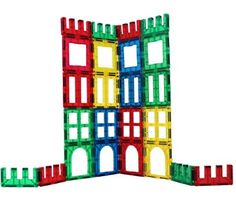 Award Winning Magnetic Stick N Stack 24 piece Windows, Doors and Fences Set (24 pieces)