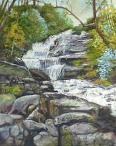 Sky Valley Waterfall painting  Love this painting! We go here every year and love the area!