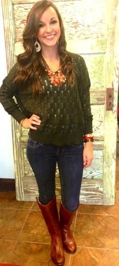 Light weight sweater..great for fall layering & a great color for this fall season! Jordan has paired it with our new Frye boots! Now available at Emma Laura-Graceful Gold located in Ivy Place 2032B Veterans Blvd. Dublin, GA 31021 478-272-2095 www.emmalaura.com Check us out on Facebook at https://www.facebook.com/pages/GRACEFUL-GOLD-JEWELRY-CO/163839008625