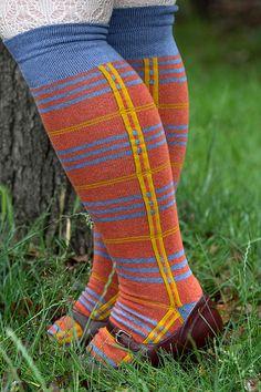 Oops! Tartan Knee Socks - Sock Dreams - Unique Colorful Socks