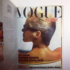 """Australian Vogue in the 1980s """"this issue is going places"""""""