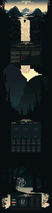 Seriously #creative dark mountain theme #webdesign