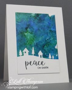 Hi everyone.  Today I'm sharing four QACAS (as Darnell would say) cards ... quick and clean and simple. :)  Alcohol Ink backgrounds with ...