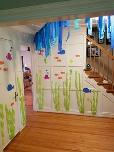 #Under the sea #streamers # garland #crepe paper # birthday decoration