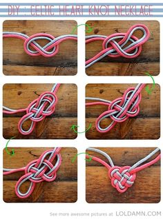 Cool DIY: Celtic heart knot necklace
