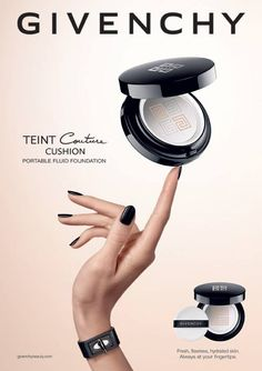 Givenchy Teint Couture Cushion Foundation Spring 2016 – Beauty Trends and Latest Makeup Collections My Makeup Collection, Make Up Collection, Eye Makeup Remover, Eye Makeup Tips, Makeup Brushes, Cushion Makeup, Cosmetics Online Shopping, All Natural Makeup, Magical Makeup