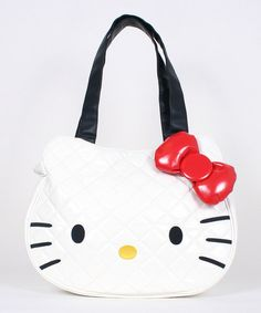 f446a2f03a Hello Kitty White Quilted Tote
