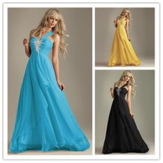 (LF8016)One shoulder Chiffon Ball Cocktail Long Dress/Formal/Ball gown/Party dress  US Size:0,2,4,6,8,10-in Celebrity-Inspired Dresses from ...