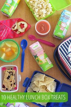 Ten Healthier Lunchbox Treats - what else would you add to the list? #sponsored