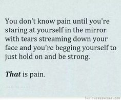 Pain and I know each other well...