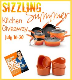 A Giveaway 4U: Sizzling Summer Kitchen Giveaway: 10 Piece Rachael Ray Cookware Set 7/16- 7/30