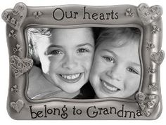 "4x6 ""My Heart Belongs to Grandma"" Picture Frame - Pewter  Reg Price $12.99  Special Price $8.18"