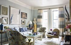 Bunny Williams and John Rosselli - Interior Design Tips Design Blog, Home Design, Tiny Apartments, Interior Design Tips, Interiores Design, Apartment Living, York Apartment, Room Inspiration, Design Inspiration