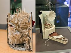 Anonymous sculptor leaves literary artworks around Edinburgh. Paper sculptures made from the pages of books.