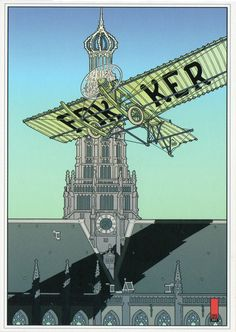 Joost Veerkamp :: Anthony Fokker's flight around the St. Bavo in his 'Spin 3′ on aug 31st 1911
