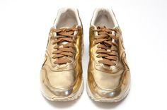 Nike WMNS Air Max 1 SP Metallic Gold storlek EU 40.5 [US 9], [UK 6.5]