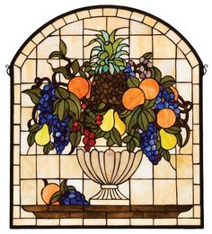 Fruitbowl Window Panel, Beige