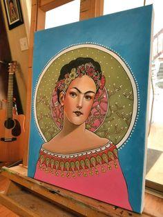 Working on a art nouveau Frida