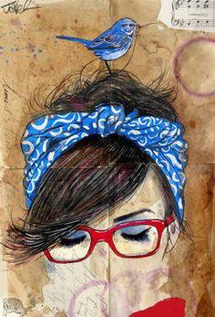 "Saatchi Art Artist Loui Jover; Drawing, ""just now gone"" #art"