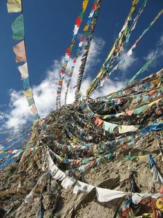 Look at all those prayer flags!  I have to make it back to the Himalayas some day