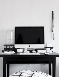 black & white desk space   THE SUPER ORDINARY