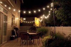 eclairage terrasse bois lanterne exterieur lumiere jardin idee luminaire pas cher spots led sol guirlande jardin