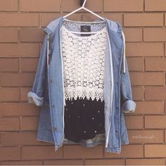 Denim and crochet