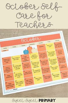 October is one of the toughest months to be a teacher. Take care of yourself by following this free daily calendar to get you through the month stress free (or as close to it as possible!). Head over to the blog and download your own free self-care calendar now. Care Calendar, Daily Calendar, First Grade Classroom, Kindergarten Classroom, Mindful Classroom, Read Aloud Books, Student Behavior, Language And Literature, Social Studies Resources