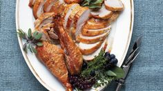 Roasted Turkey in Parchment Paper - Moist, tender, juicy Thanksgiving roasted turkey. Easy and perfect roasted turkey recipe from Martha Stewart Living. Dry Brine Turkey, Roasted Turkey, Turkey Pan, Turkey Platter, Turkey Stock, Rasa Malaysia, Best Thanksgiving Recipes, Thanksgiving Turkey, Happy Thanksgiving