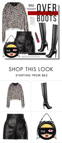 """Fall Footwear: Over-The-Knee Boots"" by aidasusisilva ❤ liked on Polyvore featuring GUESS, Moschino, Avenue, Rimmel and Boots"