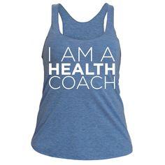 I am a health coach (racerback white)