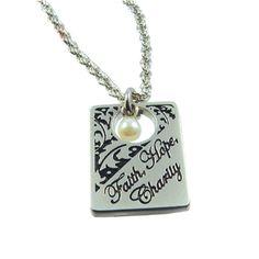 Faith Hope Charity Pearl Necklace