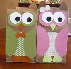 The Modest Homestead: Owl Treat Bags