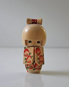 wooden kokeshi doll blonde