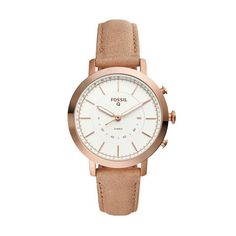 Fossil - fossil femmes neely hybride smartwatch - or rose-ton en acier inoxydabl Smartwatch, Bluetooth, Fossil Watches, Women's Watches, Bracelet Cuir, Ivoire, Apple Watch Bands, Rose Gold, Leather