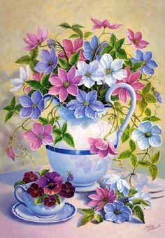 Flower Jug by Trisha Hardwick