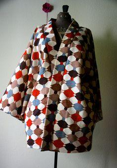 vintage haori kimono artista pattern