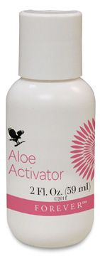 Forever Aloe Activator - this wonderful product is a moisturising and cleansing agent. Can also be used to dab on spots, as a nasal spray, as an ear drop or a mouthwash!