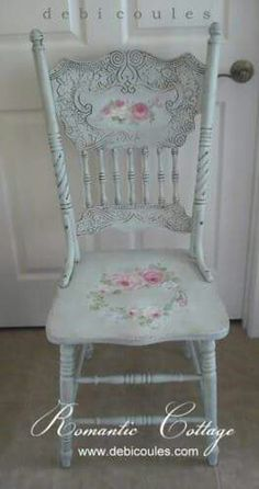 .. Hand Painted Chairs, Hand Painted Furniture, Repurposed Furniture, Shabby Chic Furniture, Vintage Furniture, Distressed Furniture, Kitchen Chairs Painted, Bedroom Furniture, Bedroom Chair