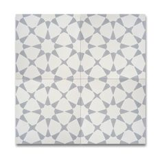 Pack of 12 Medina Grey and White Handmade Cement and Granite 8x8 Floor and Wall…