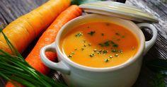 Táto oranžová polievka je skladom vitamínov. Farba je tak jasná ako karotén , to znamená rastlinný pigment, ktorý sa vo vašom tele premieňa na vitamín A.