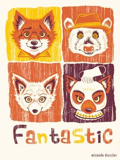 The Fantastic Mr. Fox illustrated by Miranda Dressler. Cannot wait to share this film alongside other Wes Anderson movies with my daughter. Fuchs Illustration, Fantastic Fox, Wes Anderson Movies, Mr Fox, Fanart, Fox Design, Indie Movies, Cultura Pop, Illustrations