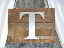 Make a Rustic Wall Plaque with Metal Craft Letters | DIY | Craftcuts.com