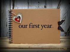 Our First Year Scrapbook First Year Anniversary by MadeByCraig