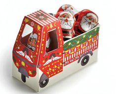 Lucia Gaggiotti, illustrator represented by The Artworks Illustration Agency in London. Mrs Claus, Father Christmas, Reindeer, Graphic Design, Toys, Illustration, Chocolates, Artworks, Van