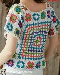 New knitting patterns free sweater women cardigans fashion outfits 32 ideas Crochet Coat, Crochet Cardigan, Crochet Clothes, Moda Crochet, Hippie Crochet, Crochet Squares, Granny Squares, Crochet Fashion, Beautiful Crochet