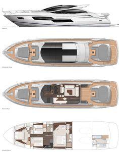 SUNSEEKER - PREDATOR 80   power boats | Sunseeker Predator 80 layout diagrams