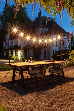 Cosy winter barbecues or joyful summer get-togethers. The Light My Table lighting garland adds warmth to your outdoor dining area all year round. @ a-propos wooncultuur Dining Lighting, Outdoor Lighting, Gazebo, Pergola, Outdoor Dining, Outdoor Decor, Dining Table, Dining Area, Cosy Dining Room
