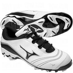 Mizuno Womens 9-Spike Watley G3 Switch Molded Cleats White/Black 8 1/2 by Mizuno. $59.95. Mizuno Watley G3 Switch Molded Cleats...Versatile And Functional! Mizuno is the premier company and supplier of baseball equipment to professionals for a reason. The Womens Watley G3 Switch Molded Cleats are ideal for the elite fastpitch athlete. Mizuno Womens 9-Spike Watley G3 Switch Molded Cleats feature: Top quality dynamic synthetic leather for superior feel, breathability, and com... Baseball Shoes, Baseball Cleats, Softball, Athletic Women, Athletic Shoes, Baseball Equipment, Best Brand, Athlete, Sneakers Nike